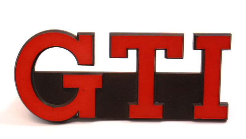 Red GTI Grill Grille Emblem 83-84 VW Rabbit GTI MK1 Badge Genuine ~ 175 853 679