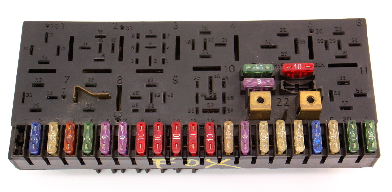 Fuse Box Fuse Panel Relay Block 87-93 VW Fox - Genuine - 443 941 822 A