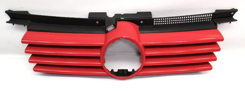 Upper Grill Grille 99-05 VW Jetta MK4 LY3D Tornado Red - Genuine - 1J5 853 655 C