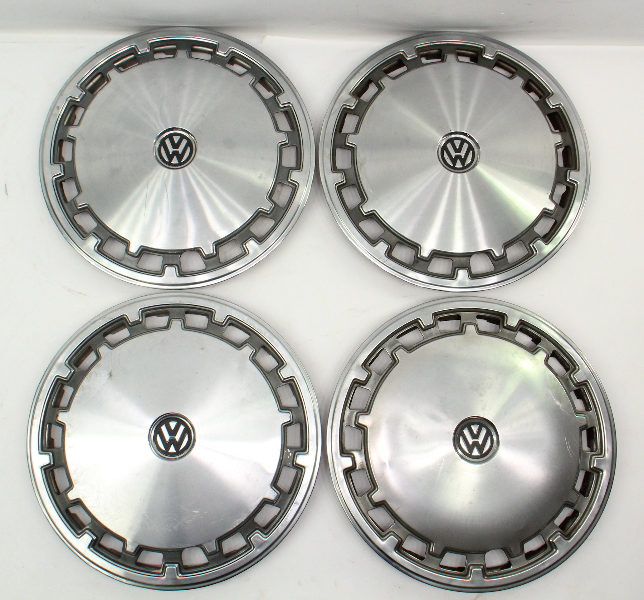 "Genuine VW Metal 13"" Hub Cap Wheel Set VW Jetta Golf Rabbit Pickup Mk1 MK2"