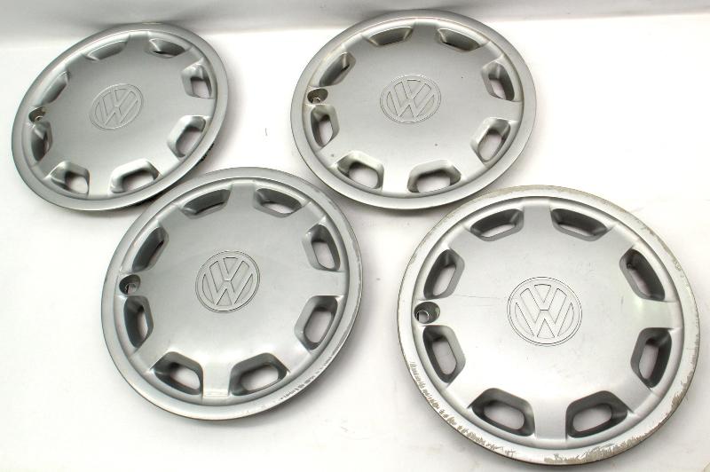 "Genuine Hub Cap Wheel Cover Set 14"" 93-99 VW Jetta Golf Cabrio MK3 - 1HM 601 147"
