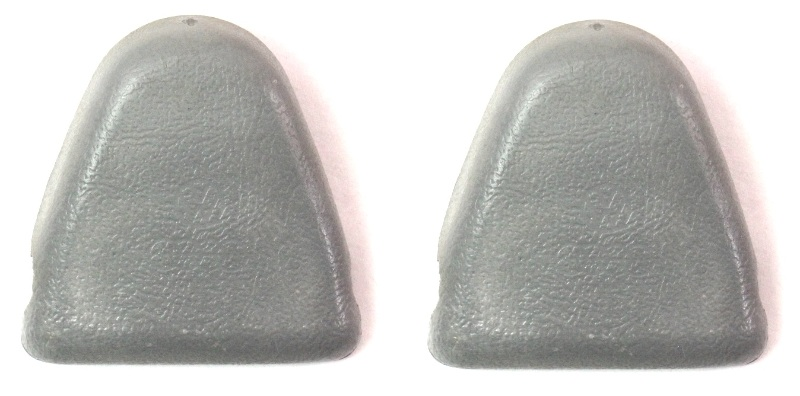 2x Upper Seat Belt Bolt Cover Cap 75-84 VW Jetta Rabbit GTI Cabriolet MK1 - Grey