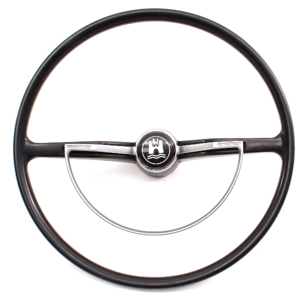 62-72 VW Beetle Bug Steering Wheel & Horn Ring Vintage Aircooled ~ 311 415 651 A