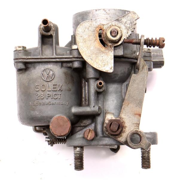 Solex Carburetor 28PICT 61-63 VW Beetle Bug 1200cc 40HP~ Genuine 113 129 023 D