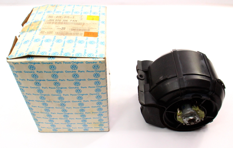 NOS Fan Blower Motor HVAC Heater 87-93 VW Fox ~ Genuine ~ 305 819 015 3