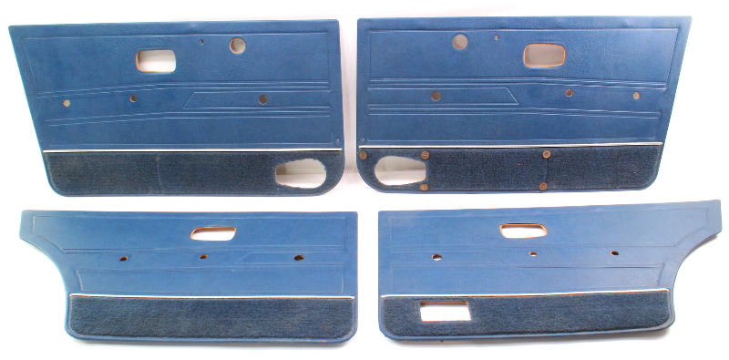 Door Panel Set 80-84 VW Jetta MK1 Blue - Genuine