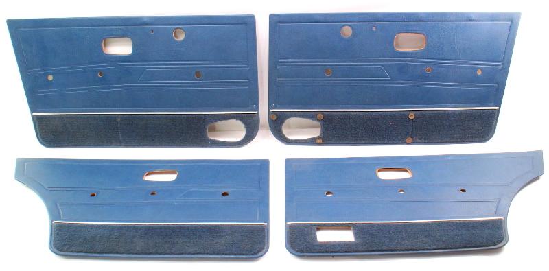 Door Panel Set 80-84 Vw Jetta Mk1 Blue