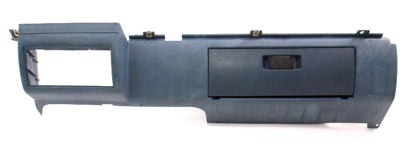 RH Lower Dash Panel Glove Box Interior 1982 VW Jetta MK1 Blue - 171 857 103 C