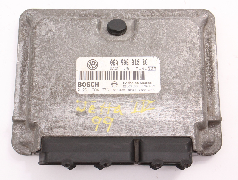 ECU ECM Engine Computer 1999 VW Jetta Golf MK4 - 2.0 AEG - 06A 906 018 BG