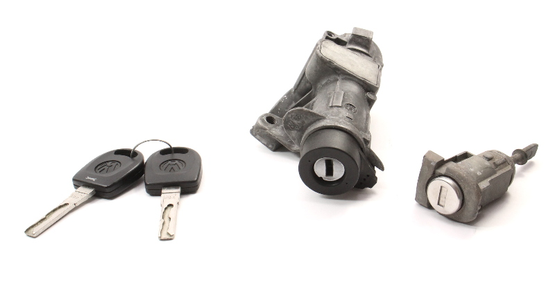 Lock Key Set Ignition Handle 99-05 VW Jetta Golf GTI MK4 Beetle 4B0 905 851 C