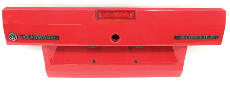 Trunk Deck Lid 85-93 VW Cabriolet Cabriolet MK1 Red - Genuine