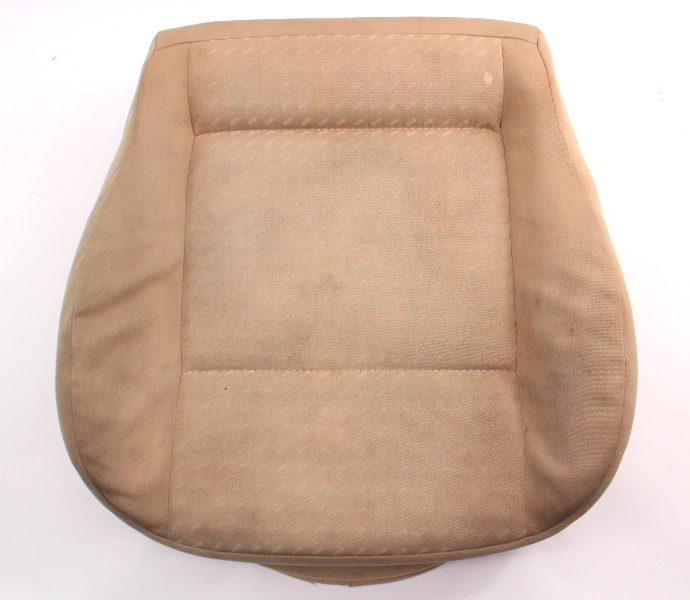 Front Seat Cushion & Cover VW Jetta Golf MK4 Passat Beige Cloth ~ Genuine ~