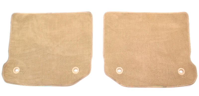 Rear Floor Mat Set 99-05 VW Jetta Golf GTI MK4 - Beige Carpet Mats - Genuine