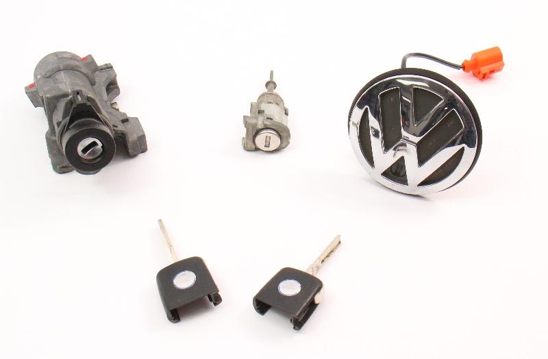 Lock Key Set Ignition Handle 99-05 VW Jetta Golf GTI MK4 Beetle 4B0 905 851 B
