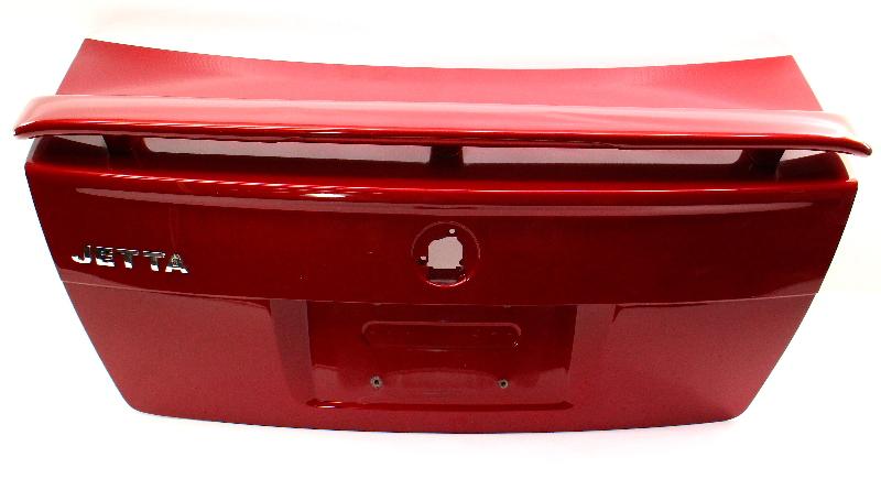 Trunk Lid Deck Boot w/ Lip & Spoiler 99-05 VW Jetta MK4 Boot LA3W Red - Genuine