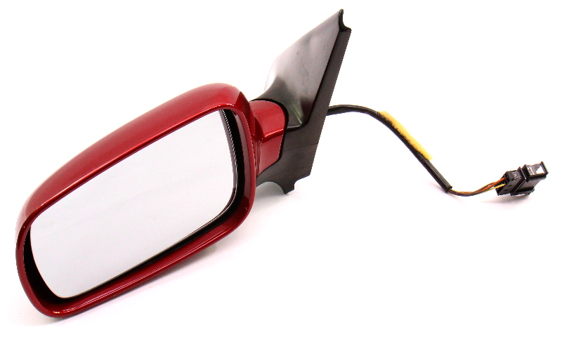 LH Side View Exterior Door Mirror VW Jetta Golf GTI MK4 LA3W Red Spice - Genuine
