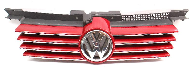 Chrome Upper Grill Grille 99-05 VW Jetta MK4 LA3W Red - Genuine - 1J5 853 655 C
