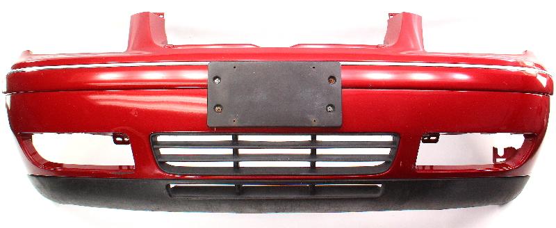 Front Bumper Cover 04-05 VW Jetta MK4 - LA3W Red Spice - Genuine
