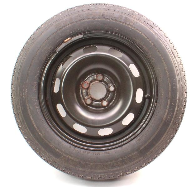 """15"""" Full Size Spare Steel Wheel & Tire VW Jetta Golf GTI Mk4 Rim ~ 1J0 601 027 Q"""