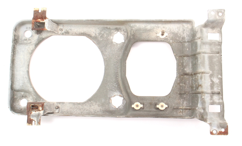 LH Square Headlight Mount Bracket Bucket 86-91 VW Vanagon T3  Head Light Lamp