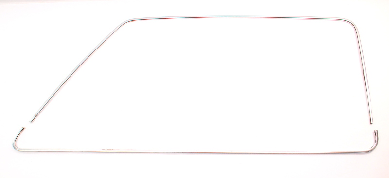 LH Front Door Window Chrome Trim Molding 80-88 VW Vanagon T3 Westfalia - Genuine
