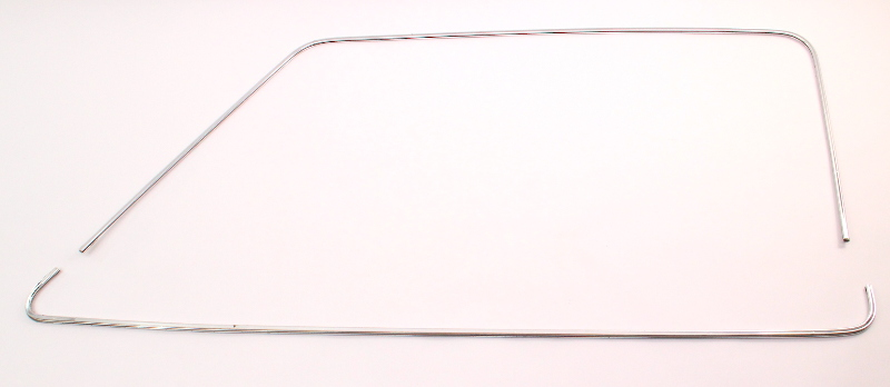 RH Front Door Window Chrome Trim Molding 80-88 VW Vanagon T3 Westfalia - Genuine