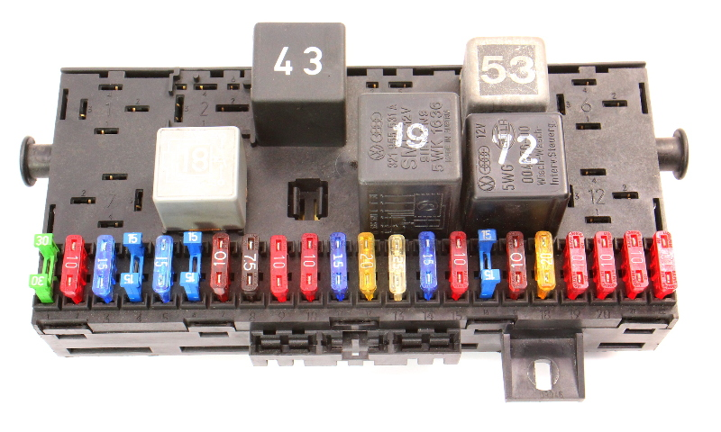 Fuse Box Panel Wiring Relays 86-91 VW Vanagon T3 Westfalia - 171 941 813 D