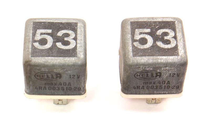 2x Relay 53 Multi Purpose Fog Horn Defrost Fuel Pump VW Audi ~ 141 951 253 B