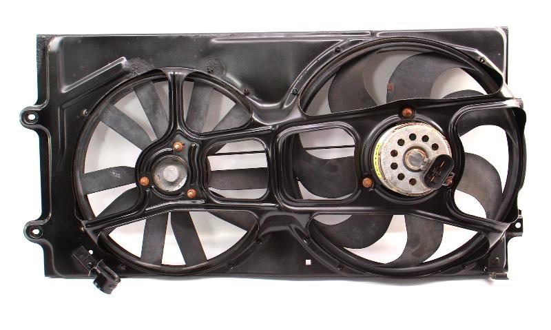 Radiator Electric Fan Motor & Blades 95-97 VW Passat B4 Genuine - 3A0 959 455 F