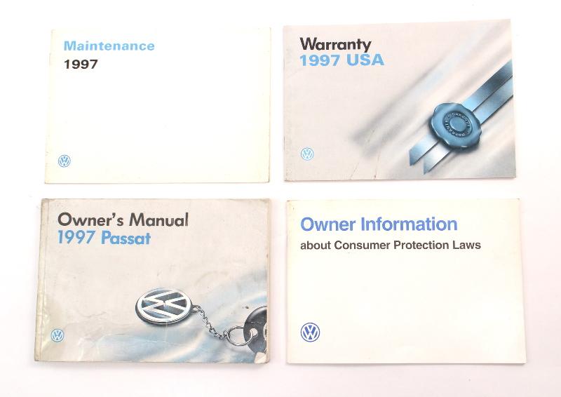 Owners Manual Books 1997 VW Passat B4 Wagon Sedan - Genuine Volkswagen