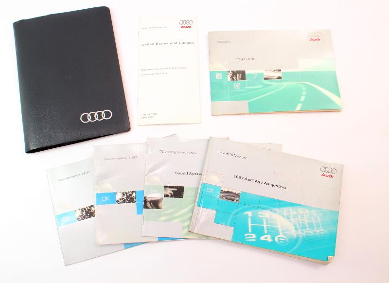 1997 Audi A4 B5 Owners Manual Case Operation Book - Genuine