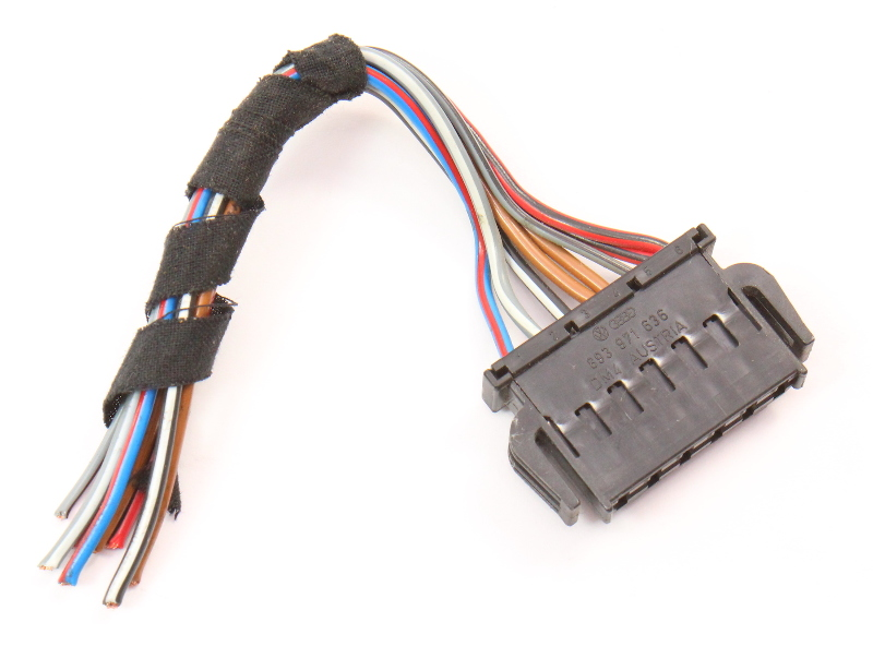 LH Taillight Wiring Plug Pigtail 96-01 Audi A4 S4 B5 - Genuine - 893 971 636