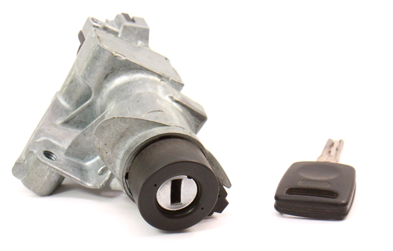Ignition Collar Lock Cylinder & Key 96-99 Audi A4 B5 MT Genuine - 4D0 905 851 E