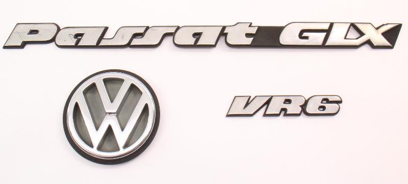 Rear Emblem Trunk Badges 95-97 VW Passat Wagon B4 - Genuine - 3A9 853 630