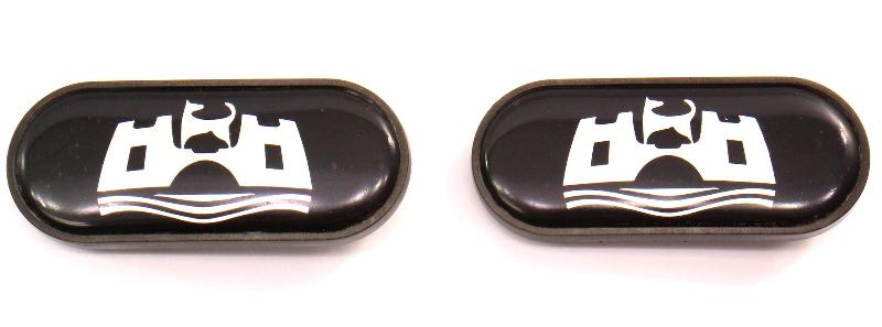 Wolfsburg Fender Side Marker Emblems Badges 95-97 VW Passat B4 - 3A0 853 688