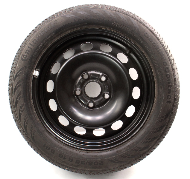 "Full Spare 16"" Steel Wheel Tire 05-18 VW Golf Jetta Mk5 MK6 - 1K0 601 027 A"