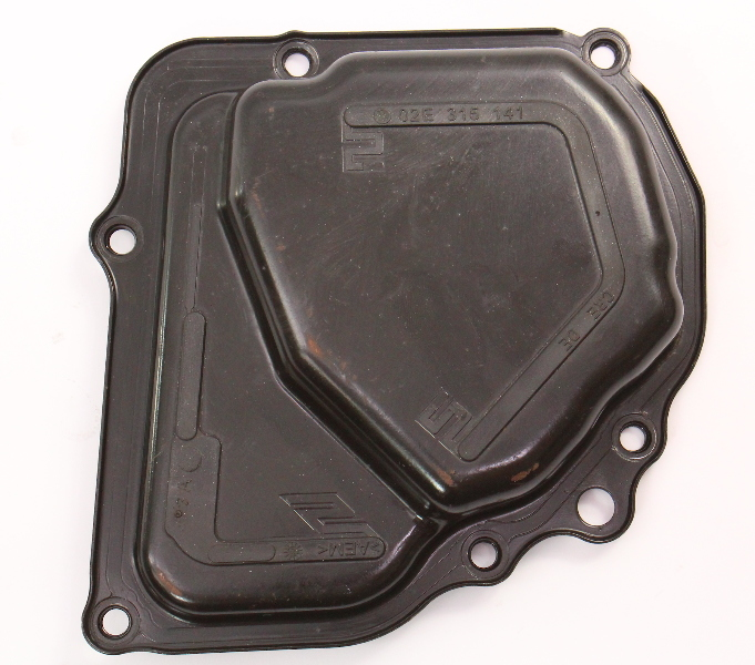 DSG Transmission Side Cover 2006 VW Jetta MK5 TDI HXU - Genuine - 02E 215 141