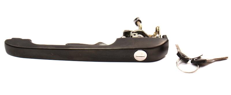 Script Door Handle With Keys 82-91 Porsche 944.537.061.00 - Genuine