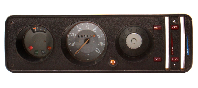 Gauge Cluster Speedometer 1973 VW Bus Transporter Bay Window T2 - 211 957 023 M
