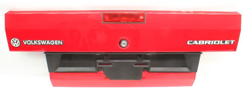Trunk Deck Lid 85-93 VW Cabriolet Cabriolet MK1 Red ~ Genuine