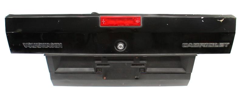 Trunk Deck Lid 85-93 VW Cabriolet Cabriolet MK1 Black Genuine