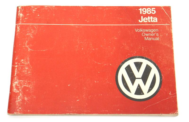 1985 Volkswagen VW Jetta Owners Manual Book MK2 - Genuine