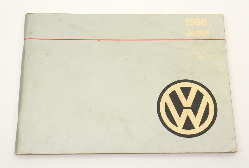 1986 Volkswagen VW Jetta Owners Manual Book MK2 - Genuine