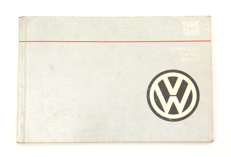 1986 Volkswagen VW Golf Owners Manual Book MK2 - Genuine