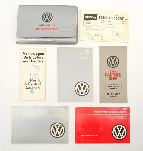 1986 Volkswagen VW Golf Owners Manual Book MK2 ~ Genuine
