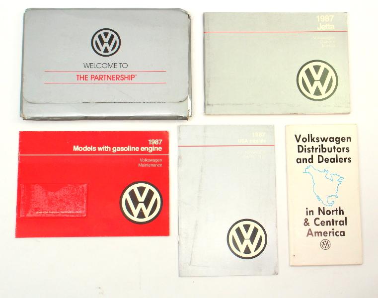 1987 Volkswagen VW Jetta Owners Manual Book MK2 - Genuine