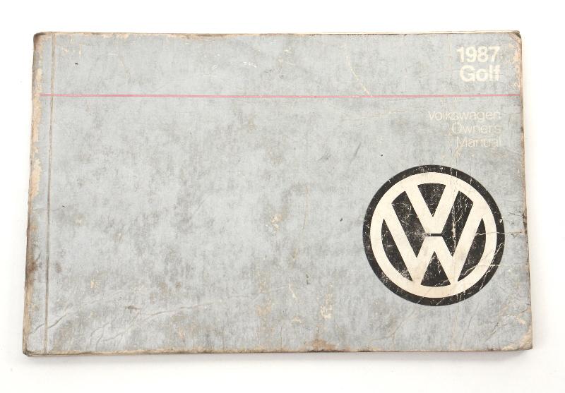 1987 Volkswagen VW Golf Owners Manual Book MK2 - Genuine