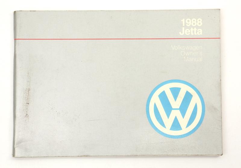 1988 Volkswagen VW Jetta Owners Manual Book MK2 - Genuine