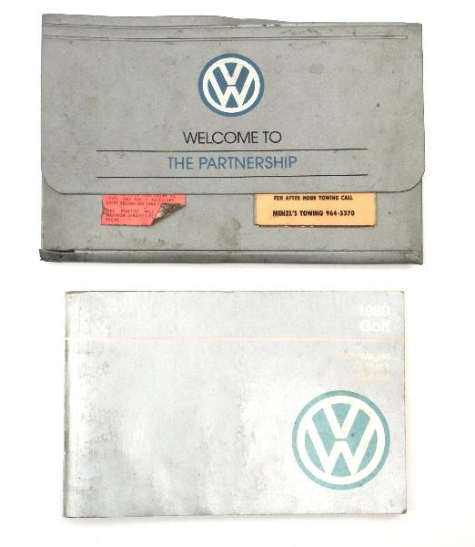 1989 Volkswagen VW Golf Owners Manual Book MK2 - Genuine