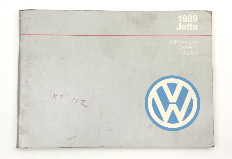 1989 Volkswagen VW Jetta Owners Manual Book MK2 - Genuine